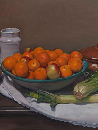 Bodegón de las naranjas.