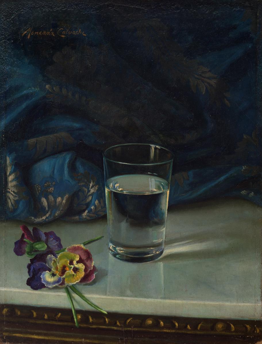 MONCADA Agua y pensamientos circa 1960 oleo-lienzo