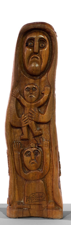 PEDRO GILABERT Virgen de yerma (circa 1985) Madera de olivo tallada