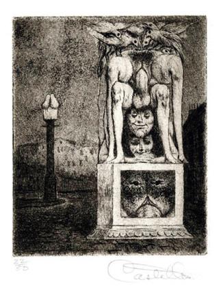 """""""Alfabeto Erótico. Letra I"""" 1969-1971. Aguafuerte y aguatinta 11 x 9 cm (huella)"""