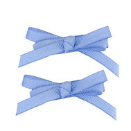 Skinny Minnie Hair Bows Cornflower Blue