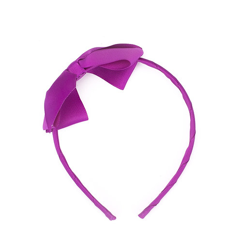 Large Bow Headband Violet