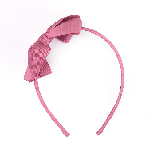 Large Bow Headband Wild Rose