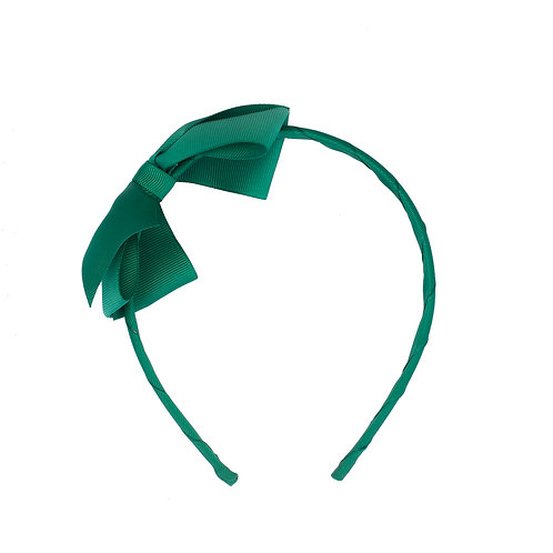 Large Bow Headband Emerald