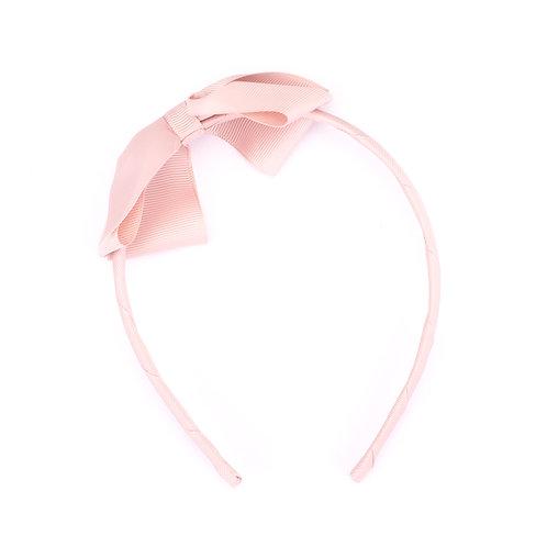 Large Bow Headband Latte