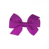 Small Pinwheel Hair Bow Violet