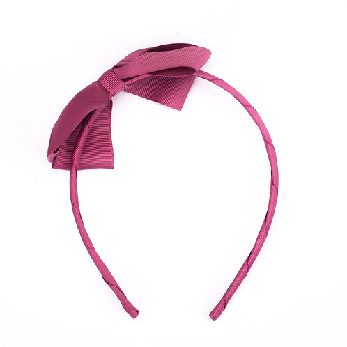 Large Bow Headband Victorian Rose