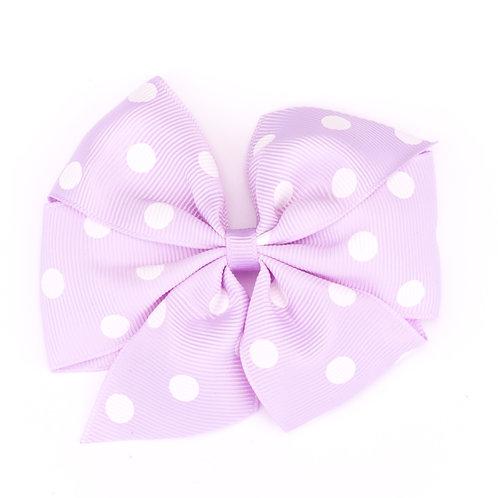 Large Polka Dot Pinwheel Bow Lilac