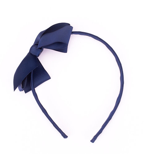 Large Bow Headband Midnight