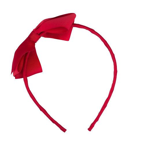 Large Bow Headband Poppy