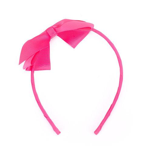 Large Bow Headband Hot Pink