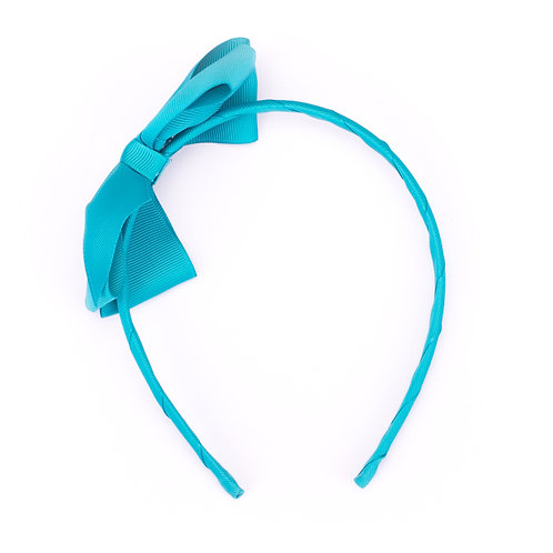Large Bow Headband Teal
