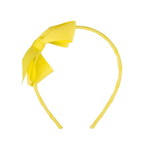 Large Bow Headband Lemon Sherbet