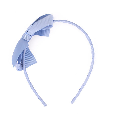 Large Bow Headband Bluebell