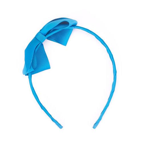 Large Bow Headband Azure