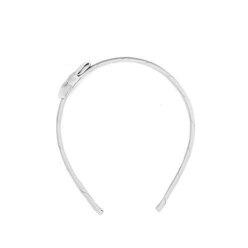 Bow Tie Headband Silver