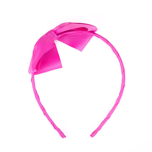 Large Bow Headband Fuchsia