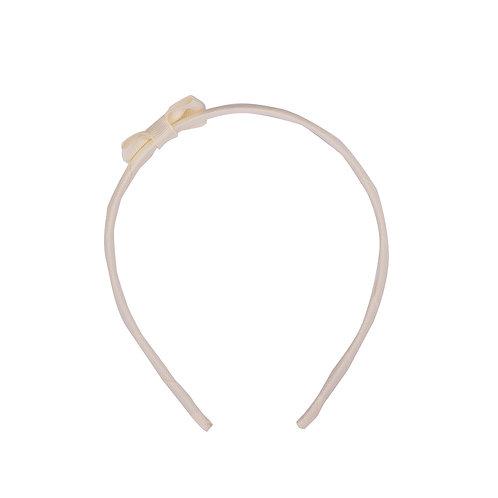 Bow Tie Headband Vanilla
