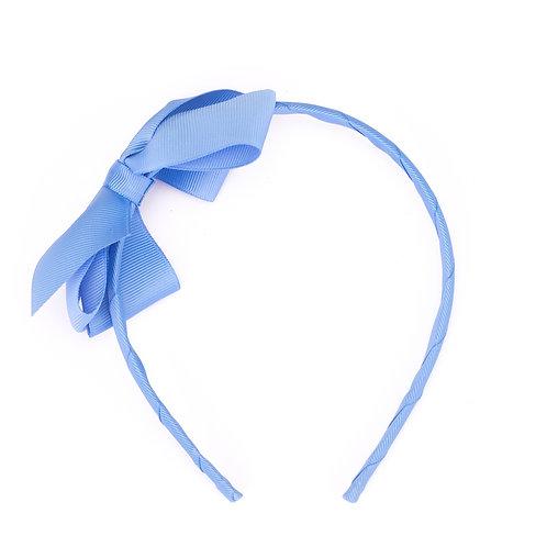 Large Bow Headband Cornflower