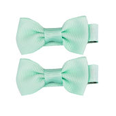 Bow Tie Hair Bows Mint Choc Chip