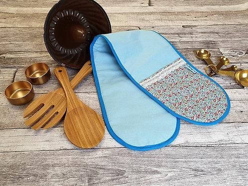 Doppel Ofenhandschuh, Backofenhandschuh, ca 78x18 cm