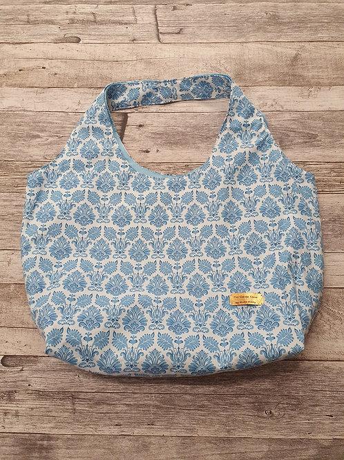 Stofftasche, weiß/ blau,  Maße ca 55x40x16cm