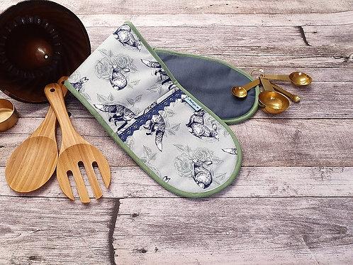 Doppel Ofenhandschuh,  Backofenhandschuh, ca 78 x 18 cm