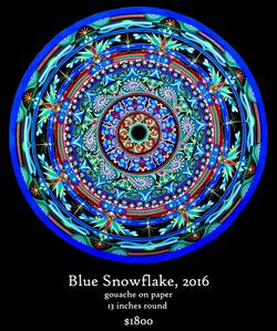 Blue Snowflake Mandala