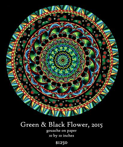 Green & Black Flower Mandala