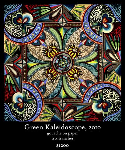 Green Kaleidoscope Mandala