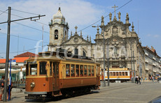 electric tram and the baroque churces