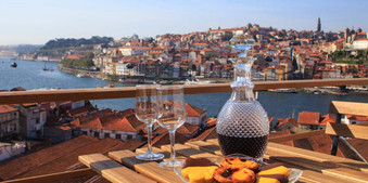 Enjoy port wine and admire the view