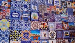 traditional beautiful blue tiles facades