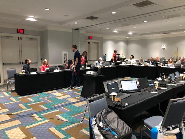 Sakai Camp Attendees in Meeting Room - Photo 1