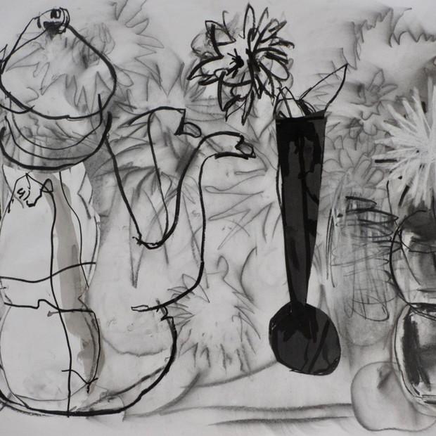 Coffee Pot Drawing Mixed media 60 x 84 cm