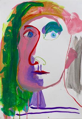 painting sohe bartlett artist portrait abstract colour