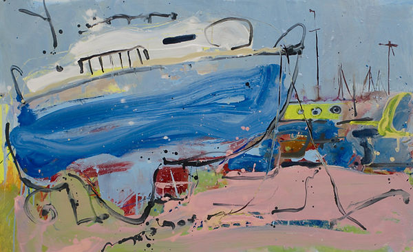 Boat washed up painting sophie bartlett artist hampshire