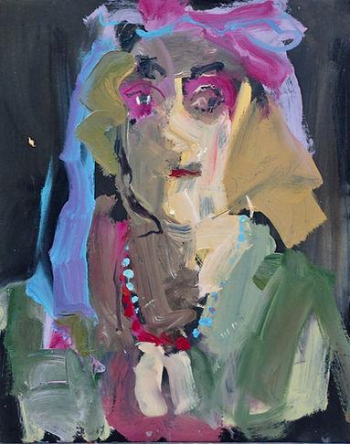 Lucy IV Oil on Paper 42 x 60 cm sophie bartlett artist
