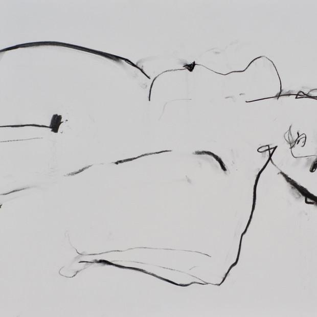 Nighttime Monique Charcoal 42 x 60 cm