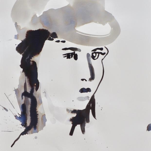 E.V.B. III Ink on Paper 42 x 60 cm