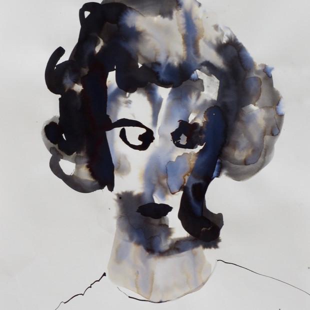 Helga II      Ink on Paper      42 x 60 cm