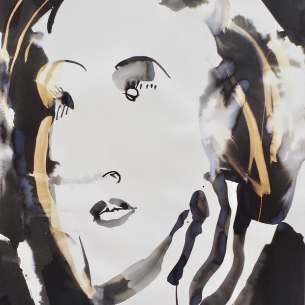 Greta III  Ink on Paper  42 x 60 cm