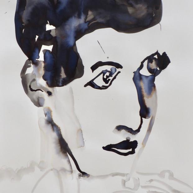 G.K.   V Ink on paper 42 x 60 cm
