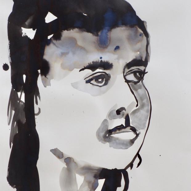 E.V.B.     Ink on Paper 42 x 60 cm