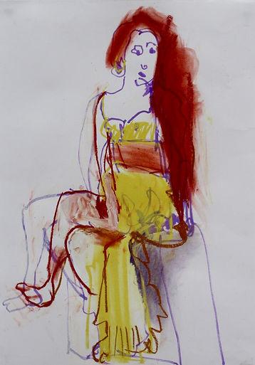 sophie bartlett artist colour portrait pose figrative