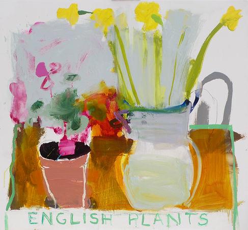 English Plants !I Oil on Board 65x62cm sophie bartlett artist east hamphire