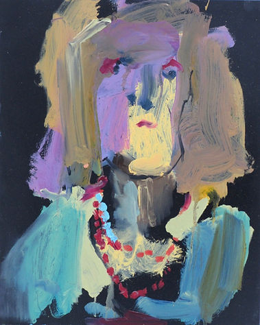 Lucy II Oil on Paper 42 x 60 cm sophie bartlett artist east hampshire