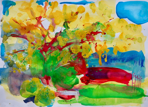 Painting sophie bartlett artist hampshire colour trees nature