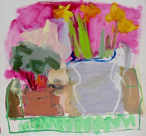 English Plants ! Oil on Board 65x62cm sophie bartlett artist