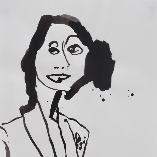 Abigail Ink on Paper 42 x 60 cm